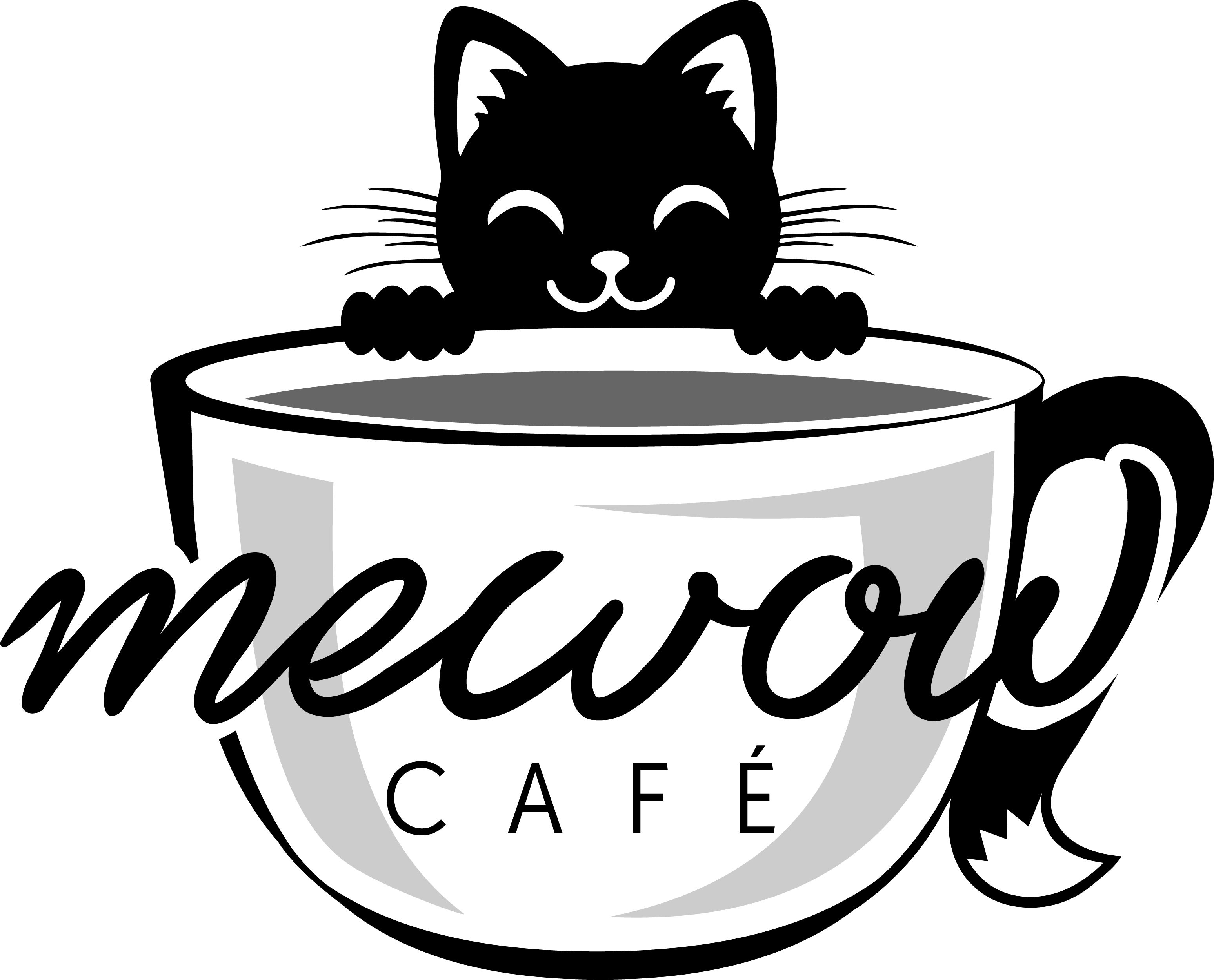 Enjoy Coffee Meandering Cats In Our Cafe Mewow Cat Cafe Coming To Bucks County Soon Catcafe Buckscounty Lovecats Ca Cat Cafe Cat Logo Design Cat Coffee