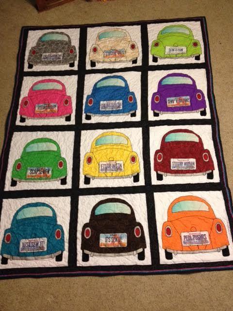 My Vw Bug Quilt For My Husband Car Quilt Camper Quilt Applique Quilts