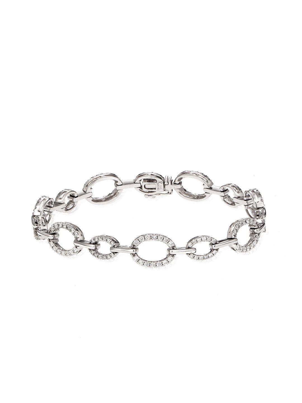 This 1.60 Total Ct. Diamond Oval Link Bracelet is very very nice!