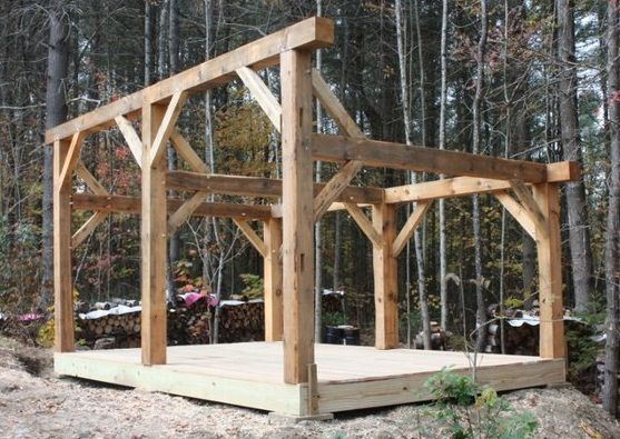 timberframe woodshed