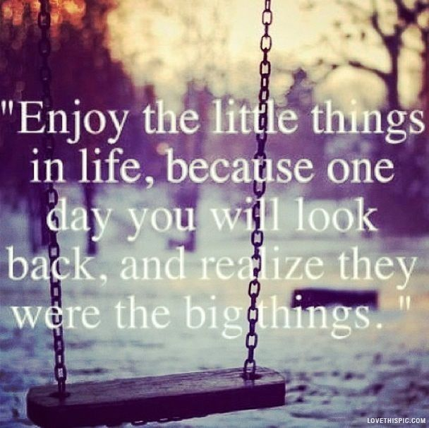 The Little Things Matter Most In Life: Enjoy The Little Things Quotes Life Enjoy Quotes