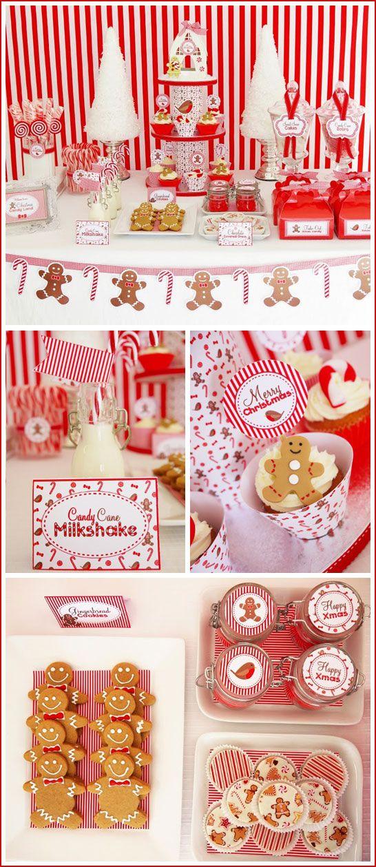 Christmas candy buffet inspiration! how cute!