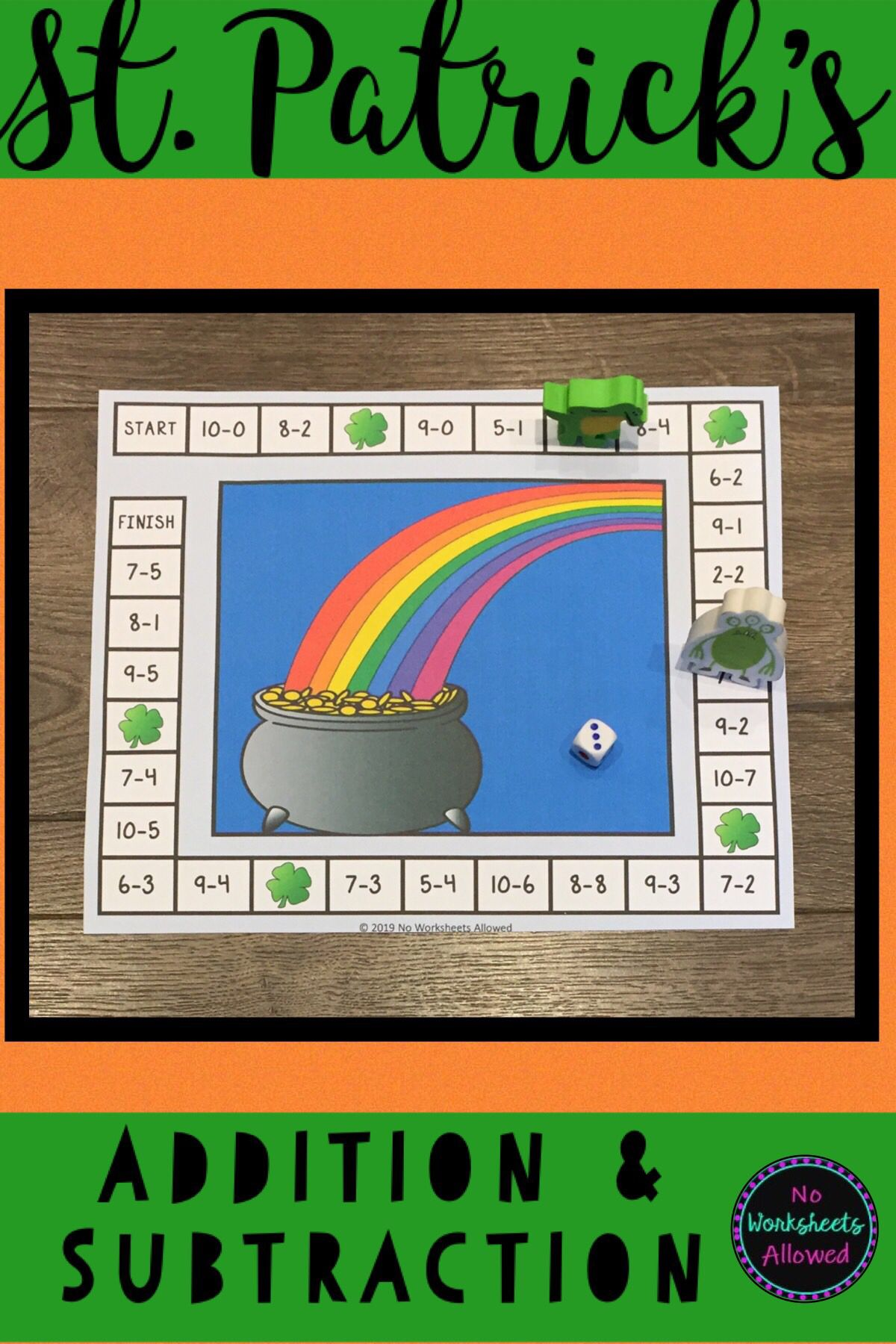St Patrick S Day Addition And Subtraction Games