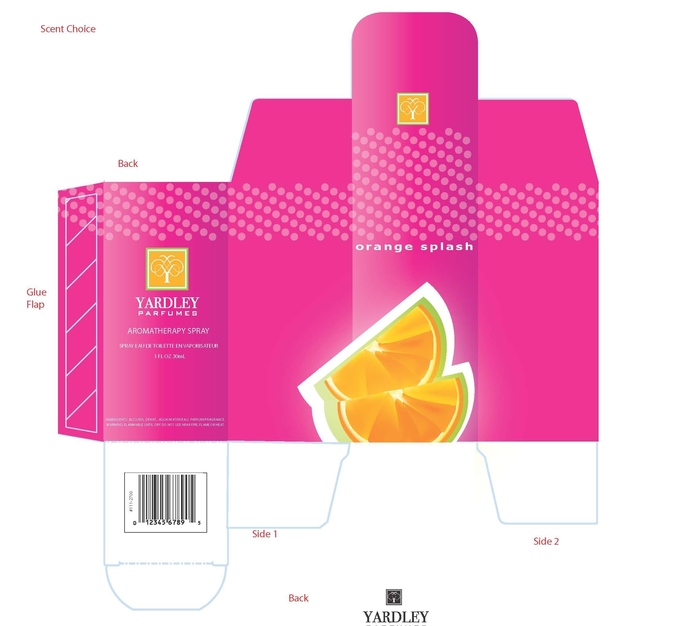 Yardley orange splash perfume box printies mini bath for Cologne box template