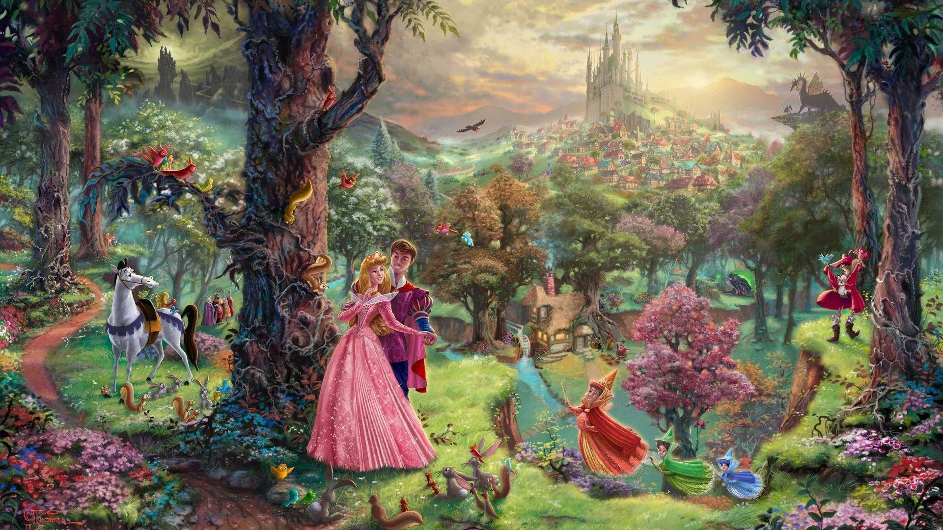 Explore Thomas Kincaid Kinkade Disney And More Sleeping Beauty Wallpaper
