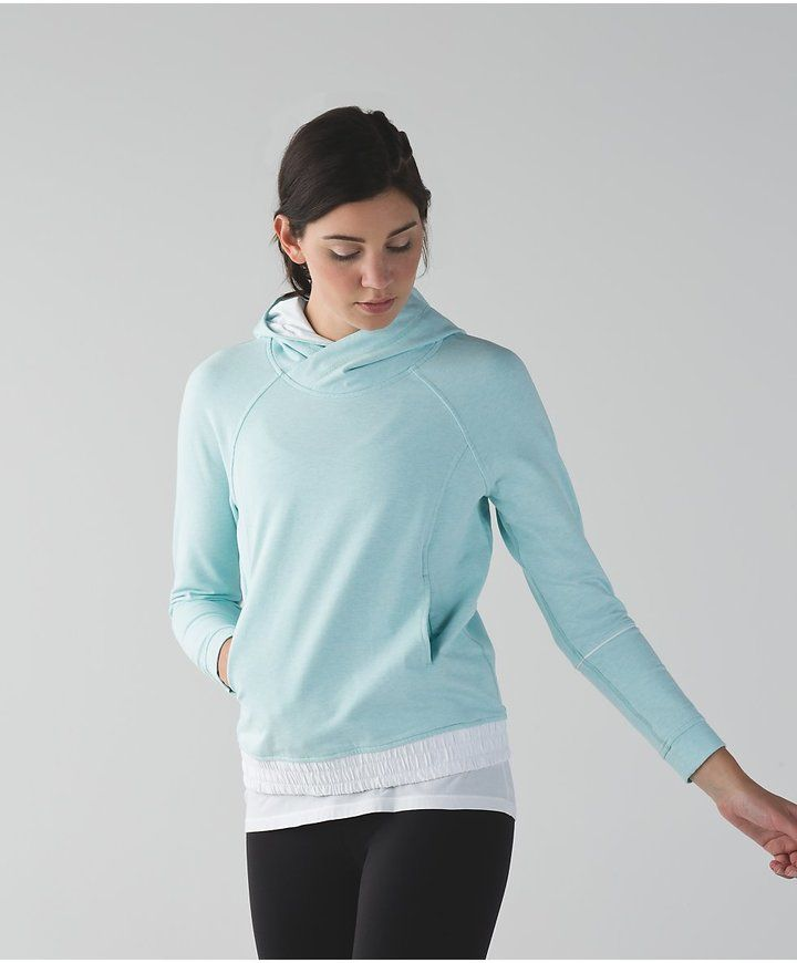 Lululemon Heathered Tranquil Blue/White All Good Pullover