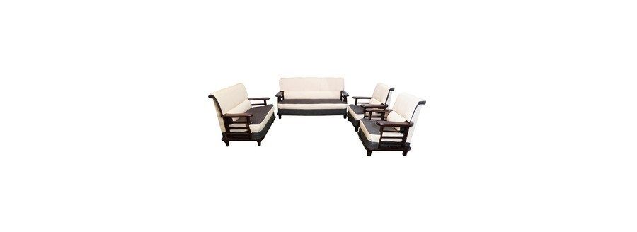 Wooden Sofa All Sofas Living Room Bantia Moscow Sofa Set 3 2 1 1 Online India At Best Price Sofa Set Wooden Sofa Sofa Set Online