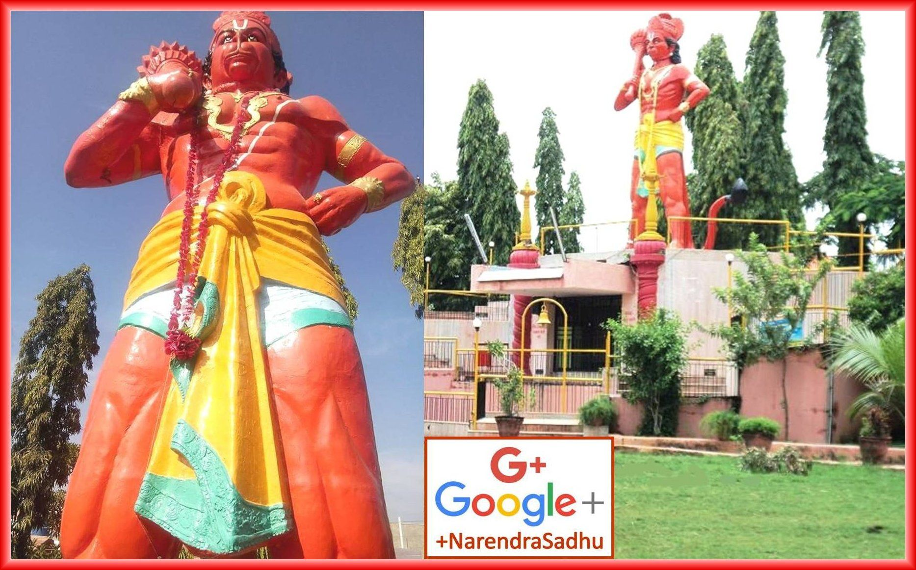 25 Feet Height Scarlet Color Big Sculpture Of Lord Hanuman Is