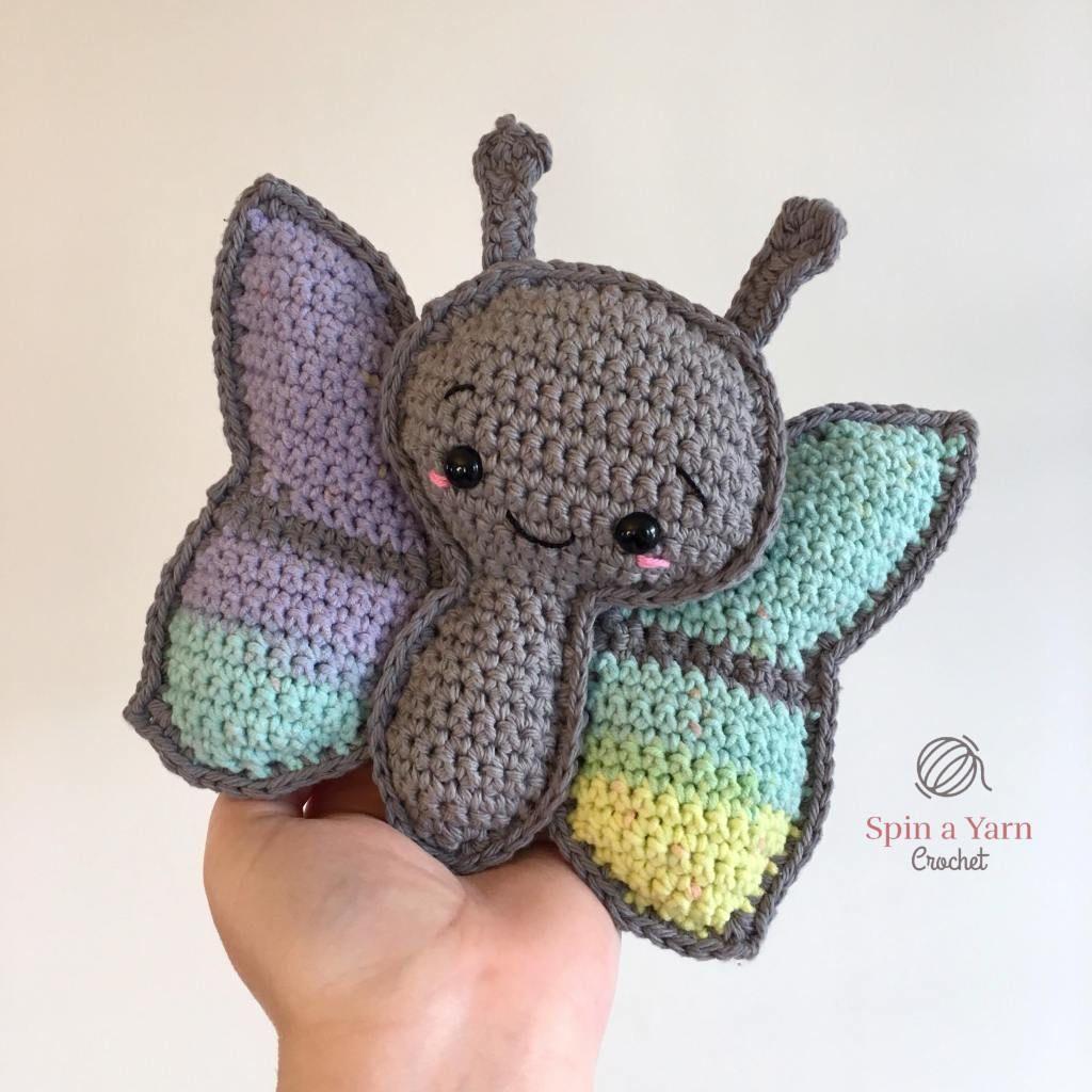 Crochet grey butterfly amigurumis pinterest ganchillo muñecos