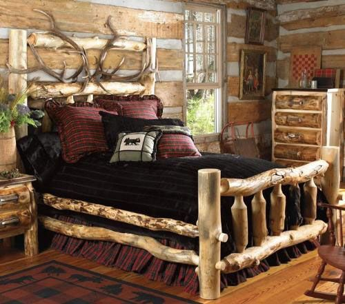 pin by vickie taylor on rustic pinterest cabin bedroom and home rh pinterest co uk Cabin Master Bedroom Bedroom Decor Lodge Bedroom Decor