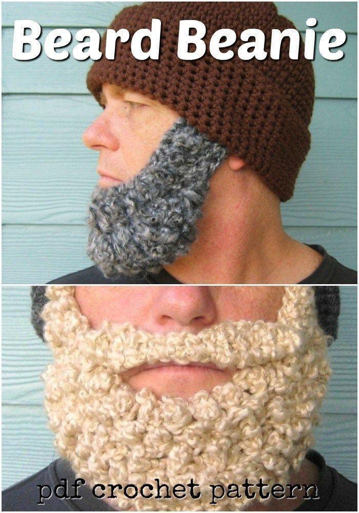 Crochet for Men Fun beard hat crochet pattern Simple beanie pattern with a fun beard Would make a great Fathers Day gift Crochet for Men Fun beard hat crochet pattern Sim...