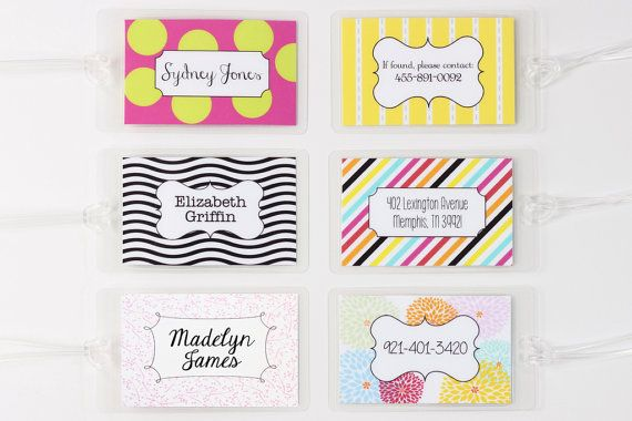 Personalized Luggage Tags Custom Kids Diaper Bag Tag Gifts For Travel Bachelorette Party Favors Beac