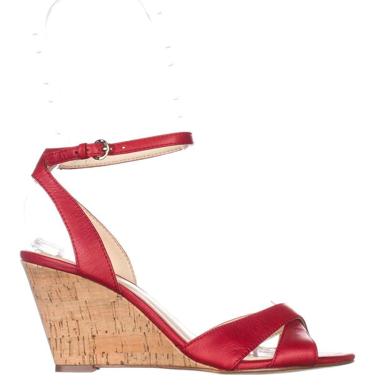 57a3285fb828 Nine West Kami Ankle-Strap Wedge Sandals
