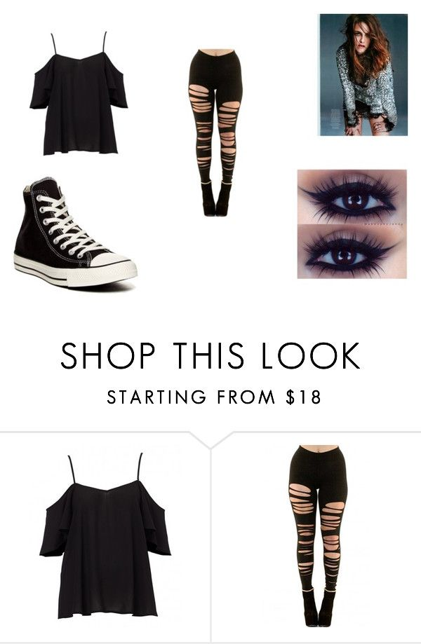 """outfit 4"" by blonde ❤ liked on Polyvore featuring Converse"