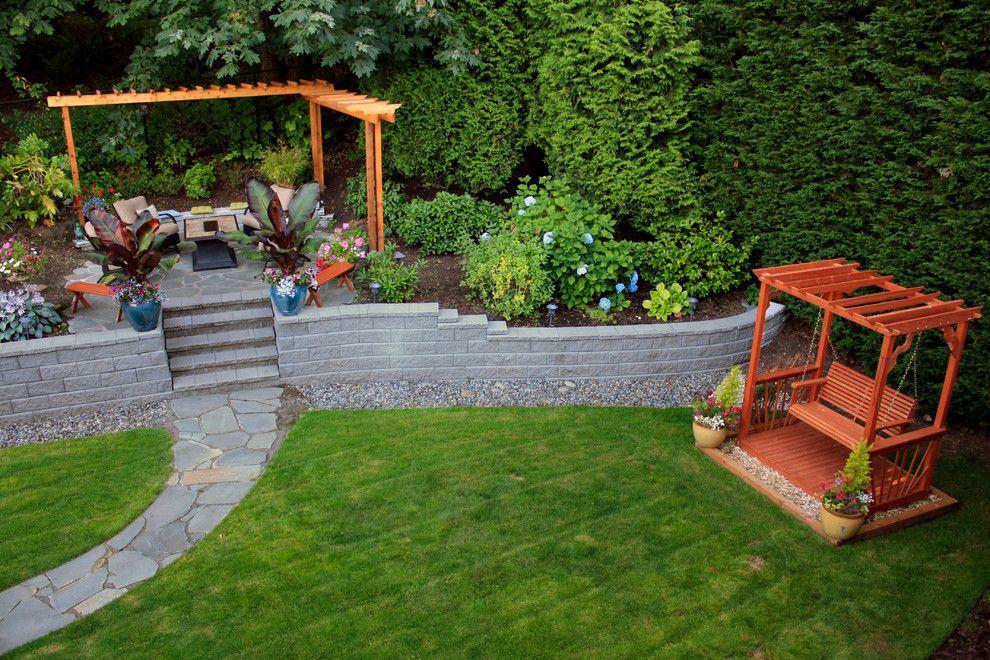 Crazey Pave Path To Link Steps To Patio) · Garden Retaining WallsGarden ...