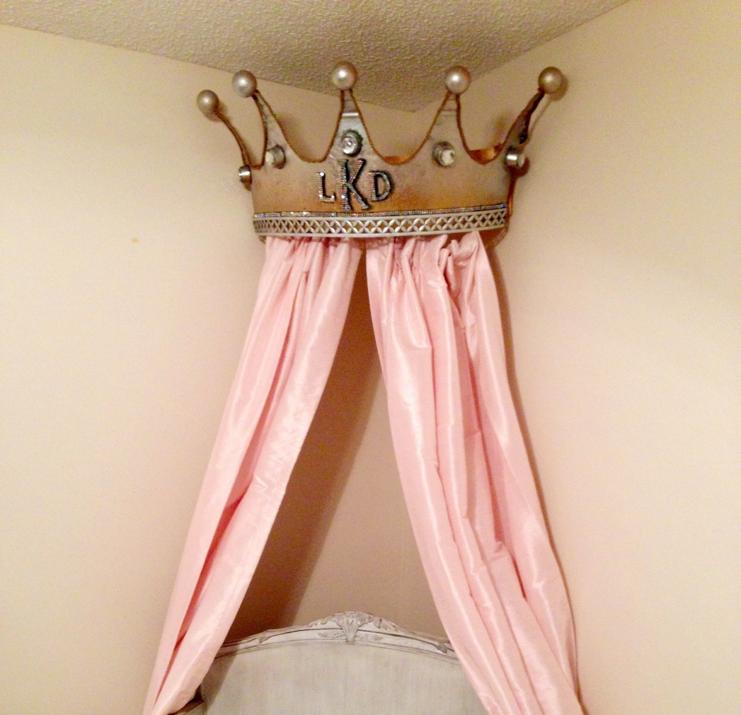 Princess Bed Canopy Girl Crown Pelmet Upholstered Awning: Bed Crown, Bed Crown Canopy