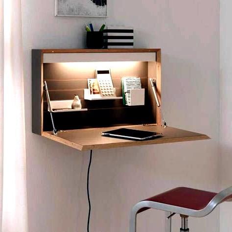 Super Creative Floating Desk Height Just On Homesable Home Design Em 2020 Espacos Pequenos Moveis Para Espacos Pequenos Ideias Estantes