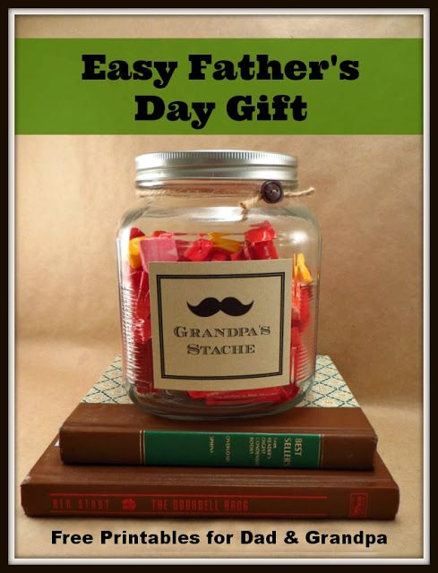 Last Minute Fathers Day Gift With Printables For Dad Grandpa