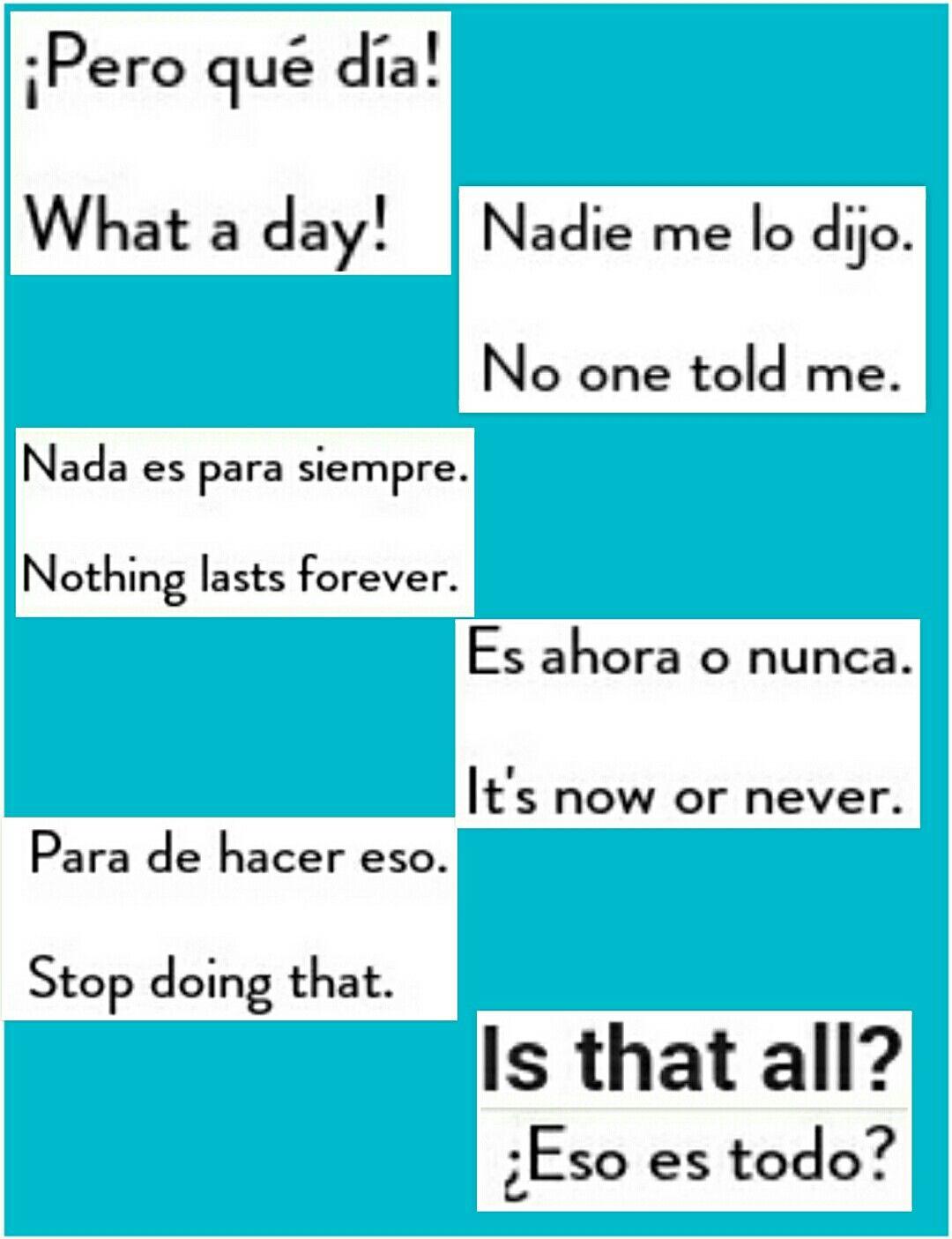 Pin De Nayerlhi Tucker En English Spanish Como Aprender Ingles Basico Frases Basicas En Ingles Como Aprender Ingles Rapido