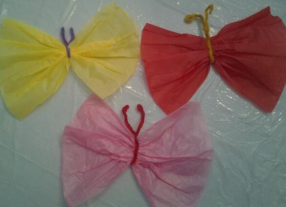 Manualidades para ni os mariposas sencilla manualidad - Manualidades para ninos con papel ...