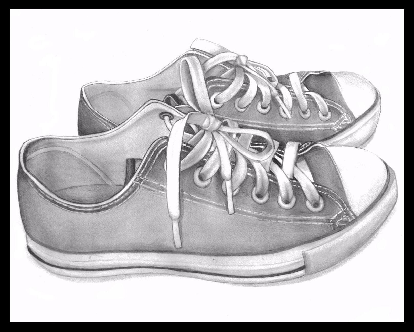 Create a paper template, draw the outline of a ballet shoe onto the side of your sneaker, then paint it in with black paint and marker. Check out this full tutorial and template. 5.