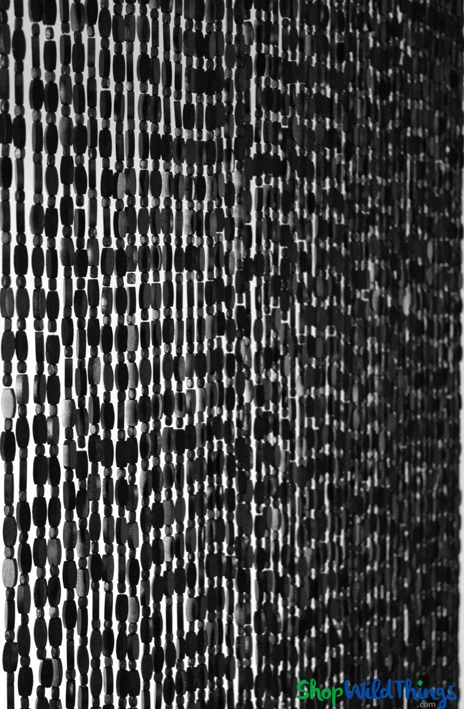Wooden Bead Curtain Ashford Black 35 1 2 X 77 52 Strands