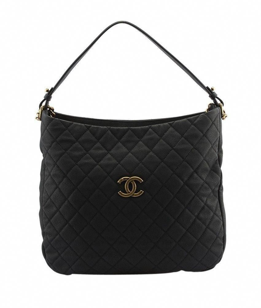 ff58f6b8f4045e Chanel A67623 Black Caviar Quilted Leather Shoulder Bag #Chanelhandbags
