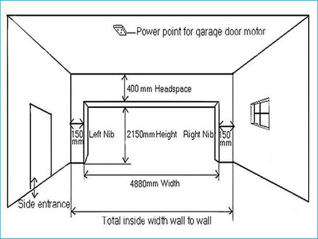 Superior 2 Door Garage Size #5: Kết Quả Hình ảnh Cho Double Garage Door Dimension