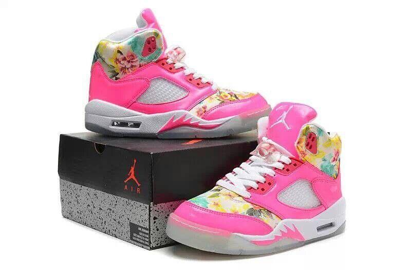 womens air jordan retro 5 all pink