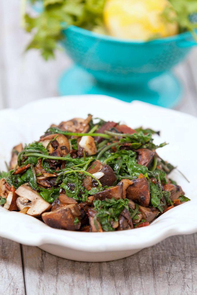 Healthy Garlic Kale And Mushroom Stir Fry