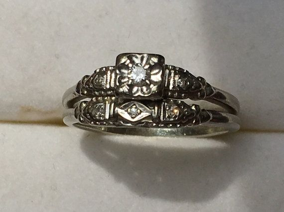 Looking for a vintage or unique engagement ring and wedding band set...look no further. This is a stunning 1920s diamond bridal set. All set
