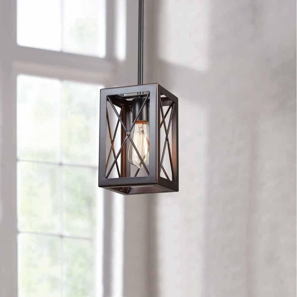 Home Decorators Collection 1-Light Royal Bronze Mini