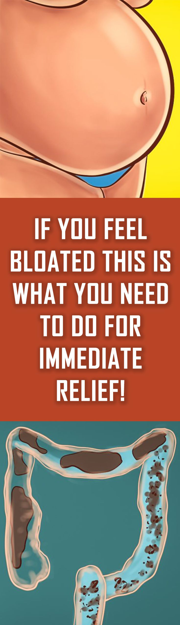 If You Feel Bloated This Is What You Need To Do For Immediate Relief Health Health Info Bloating Remedies