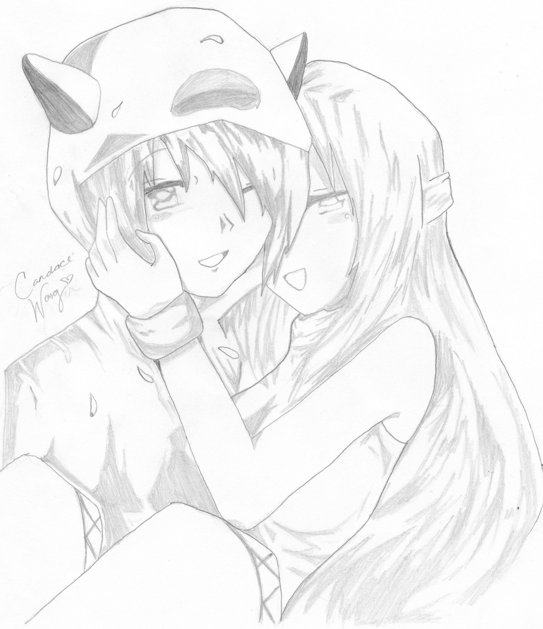 Anime couples drawings