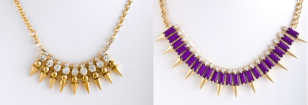 Do you like the rhinestone gold or the jeweled purple? Let us know!