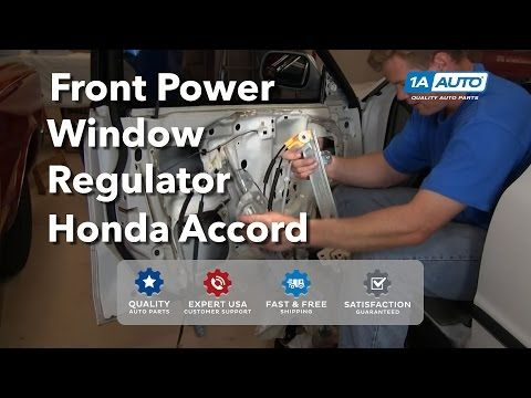 How To Install Replace Front Power Window Motor Regulator Honda Accord BUY AUTO  PARTS AT 1AAUTO