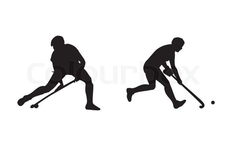 Stock Vector Of Field Hockey Player Silhouettes Field Hockey Hockey Hockey Players