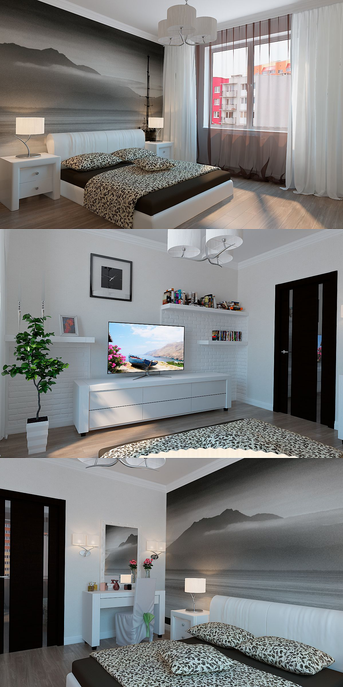 Urban style bedroom