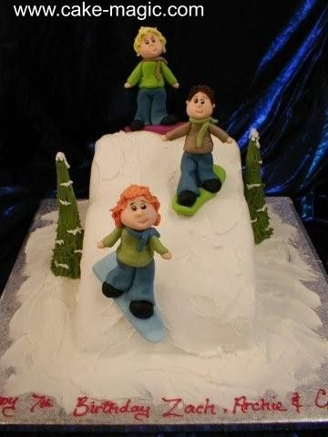 Ski Scene Cake By Magic Bromsgrove Cakes Pinterest Scene Cake