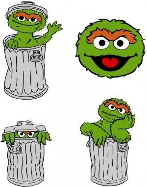 krafty nook sesame street oscar the grouch preschool designs rh pinterest ca oscar the grouch clipart free free oscar the grouch clip art