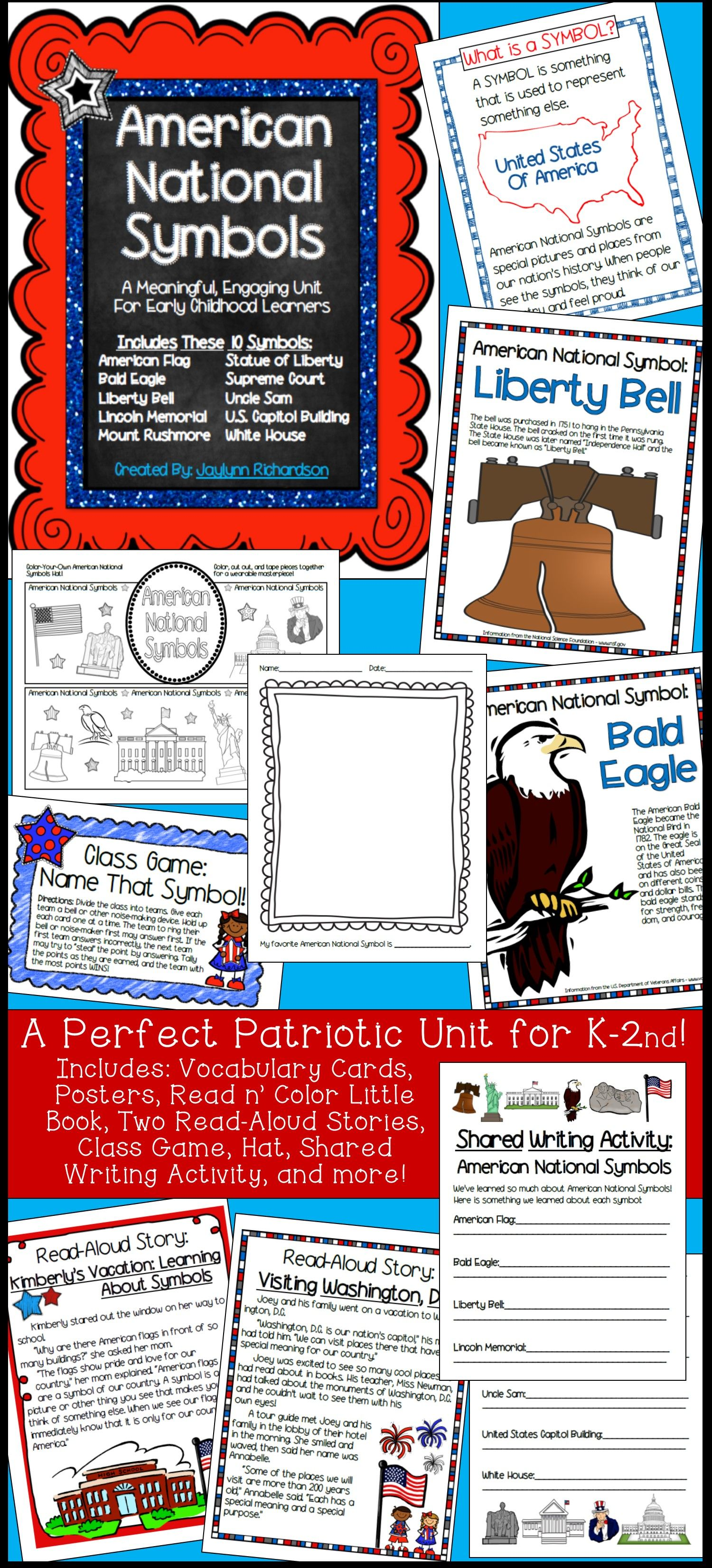 American National Symbols A Meaningful Engaging Unit For