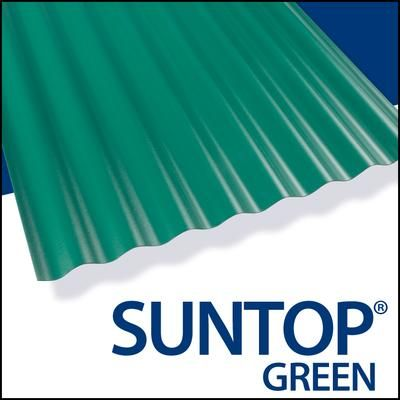 Suntop Suntop Forest Green 8 Feet V048618 Home Depot Canada Roof Panels Corrugated Roofing Polycarbonate Panels