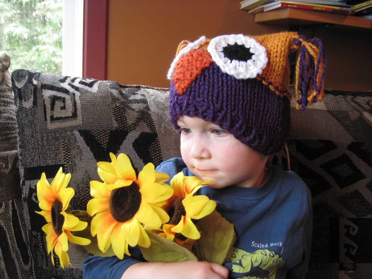 Photo of Owl hats – hand knit – customize your hat – babies and kids sized – photo shoot prop – boy girl – animal hat