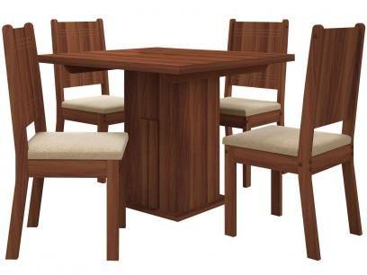 Conjunto de Mesa com 4 Cadeiras Estofadas - Dj Móveis Stella com as melhores condições você encontra no Magazine 233435antonio. Confira!