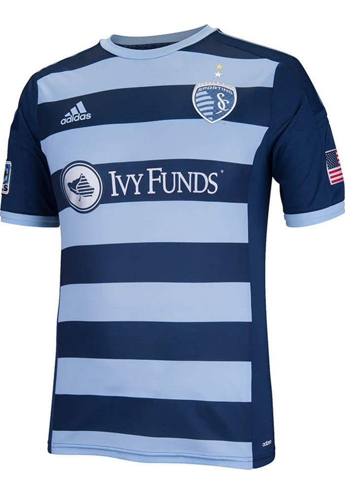 9b7438496 Sporting Kansas City Mens Adidas Soccer Jersey - SKC Blue 2014 Authentic Soccer  Kit LOVE IT!