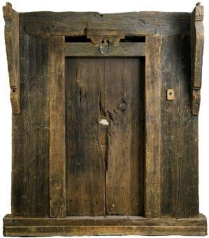 Sheldon House door showing hatchet damage 1704 Raid on Deerfield Massachusetts & Sheldon House door showing hatchet damage 1704 Raid on Deerfield ...