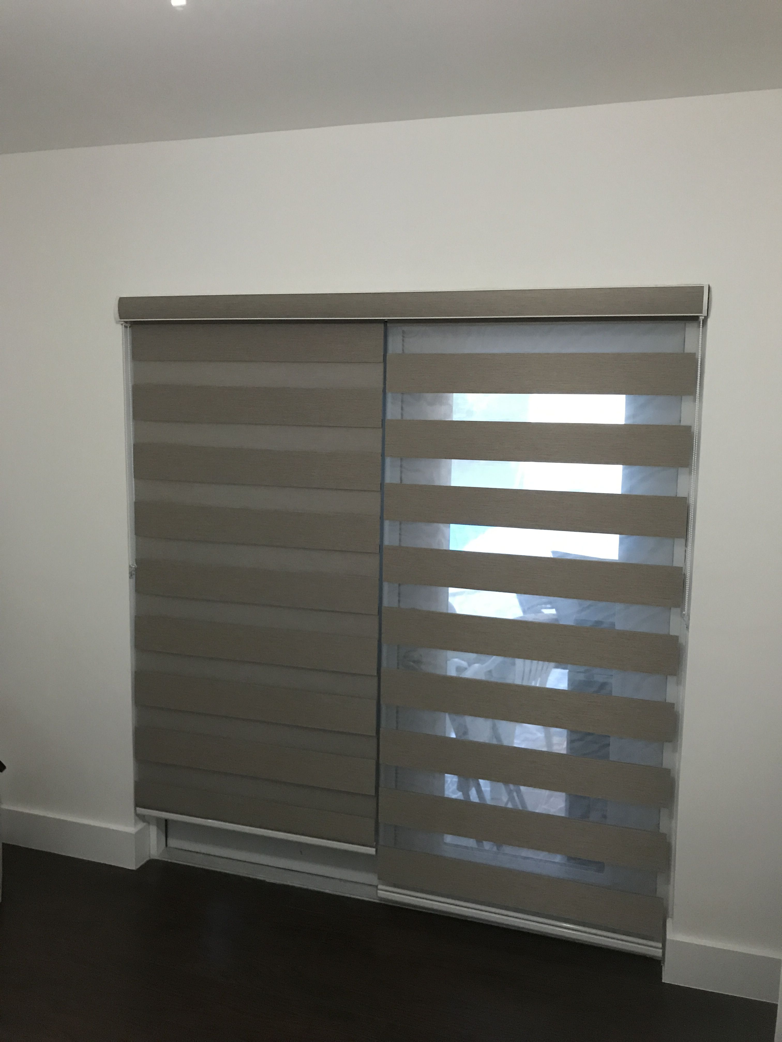 Zebra Illusion Dimout 2in1 Shades By Elite Decor Miami Kitchen