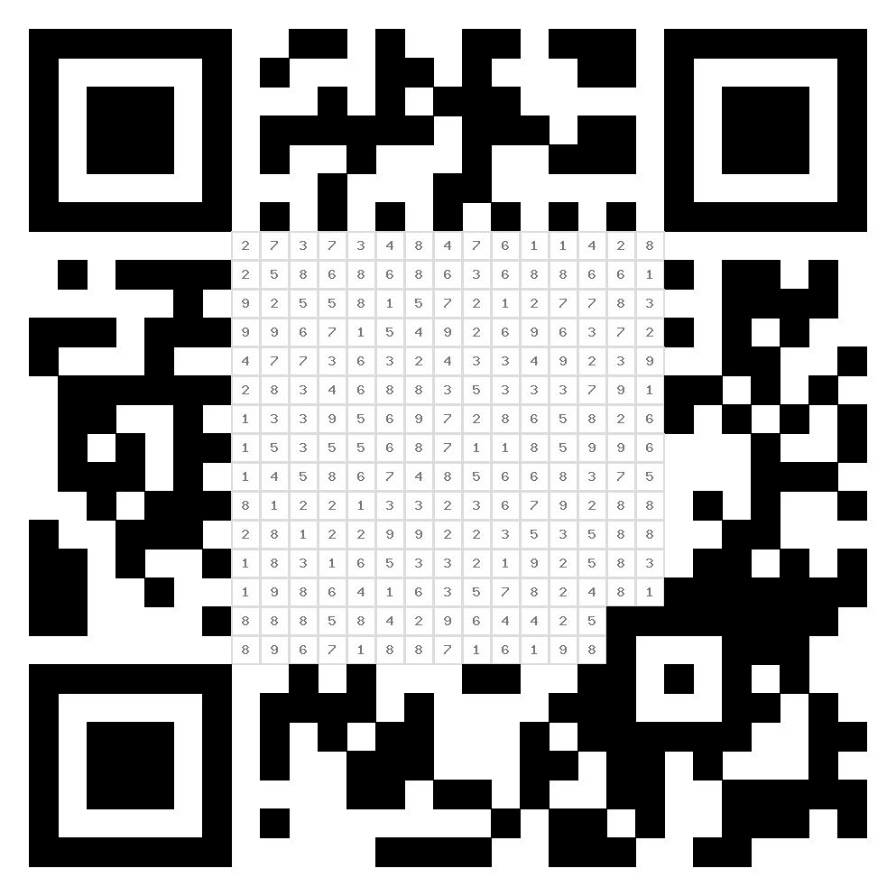 QR-Code zum ausmalen