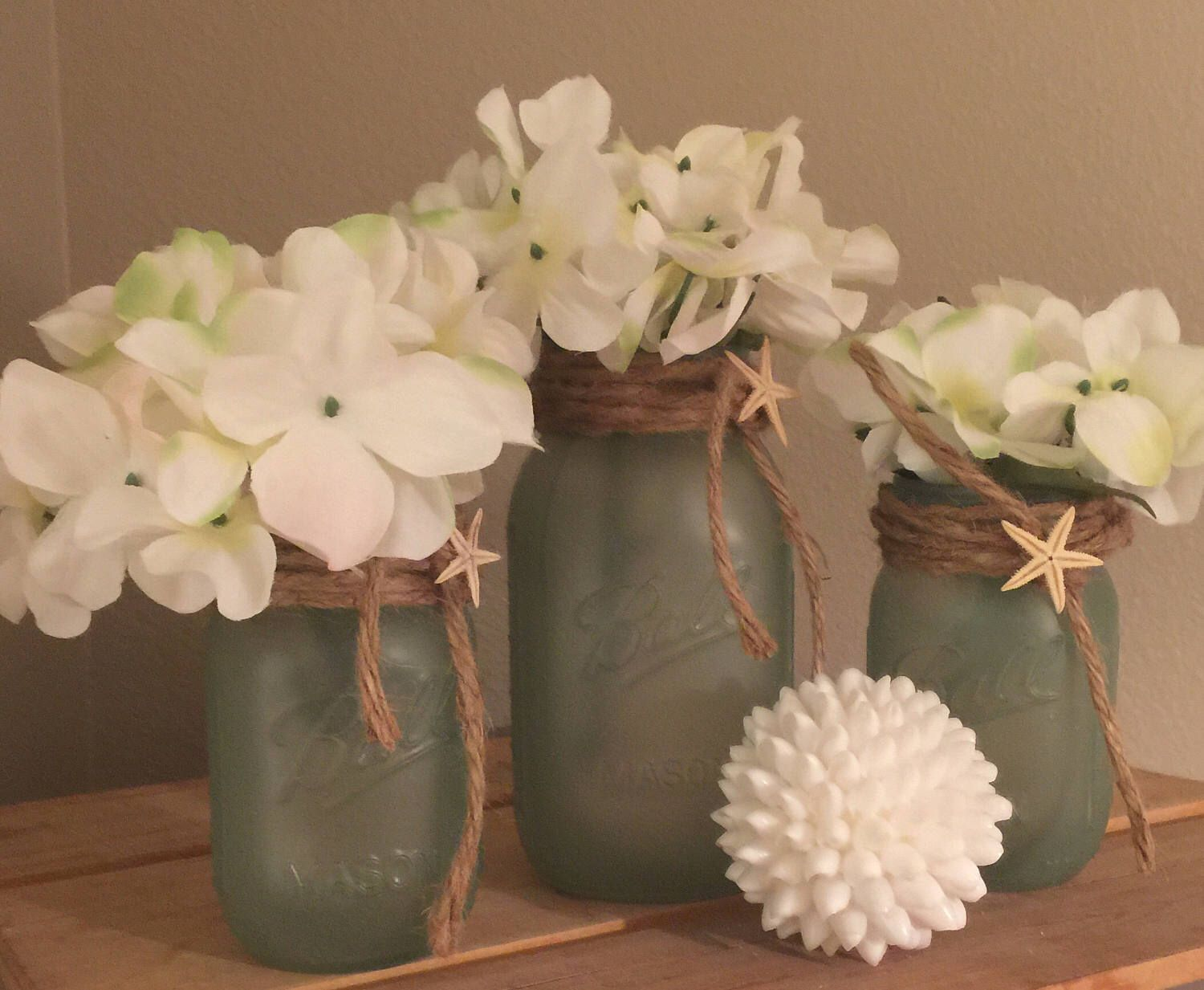 Seaglass beach decor mason jars centerpieces beach bathroom decor beach decor beach wedding decorations beach theme bridal shower decor beach centerpieces junglespirit Image collections