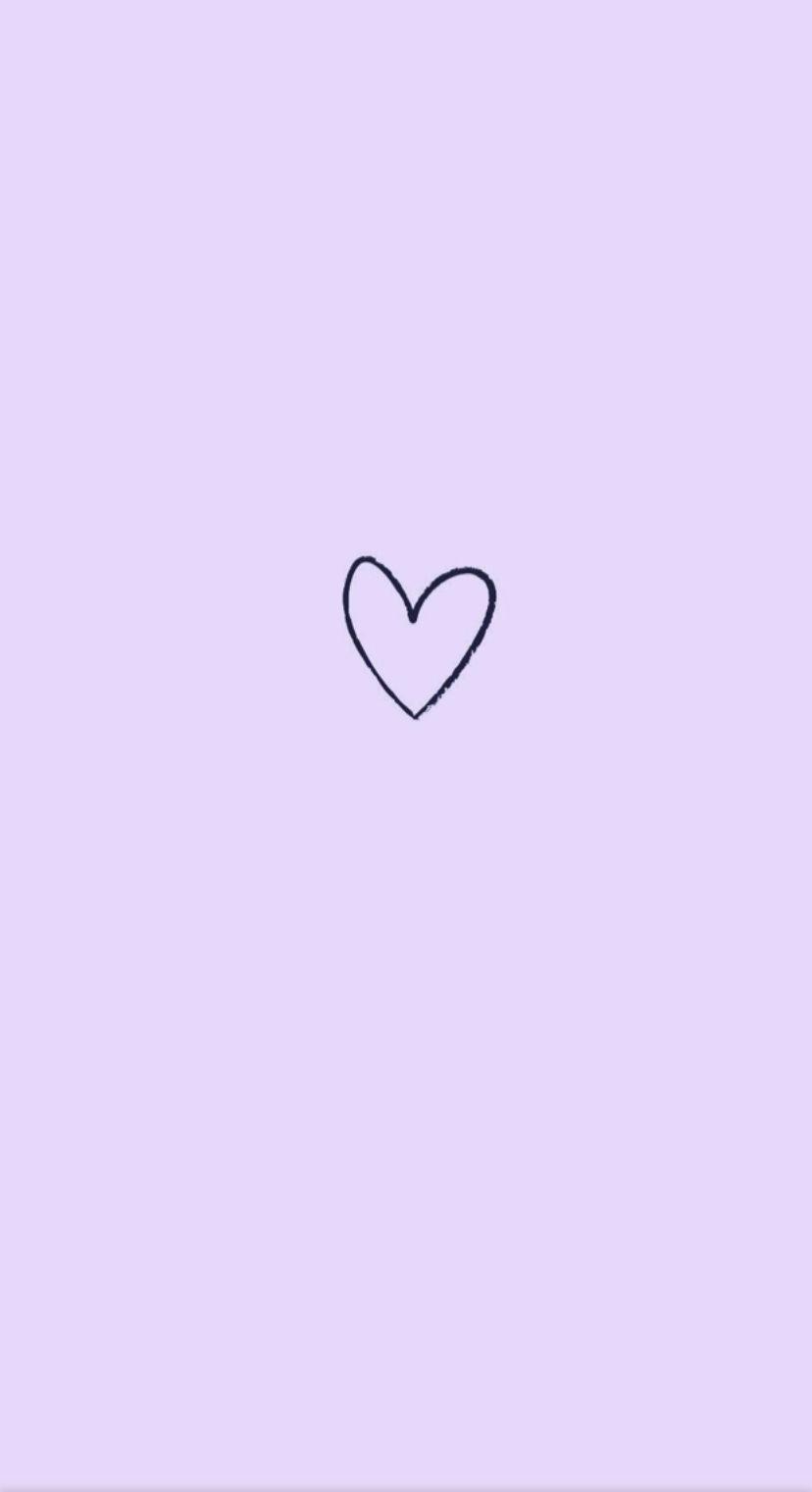 The Lavender Heart Purple Wallpaper Iphone Heart Wallpaper Iphone Wallpaper Images